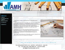Tablet Preview of amhconstrucoes.com.br